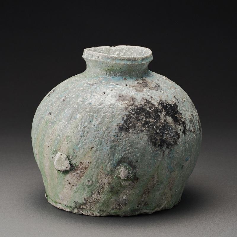 自然釉蹲(辻村唯)Natural Glaze Uzukumaru(Yui Tsujimura)