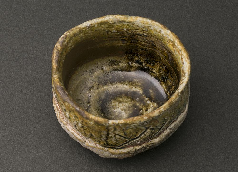 灰釉ぐい呑(西端正)Ash Glaze Sake Cup(Tadashi Nishihata)