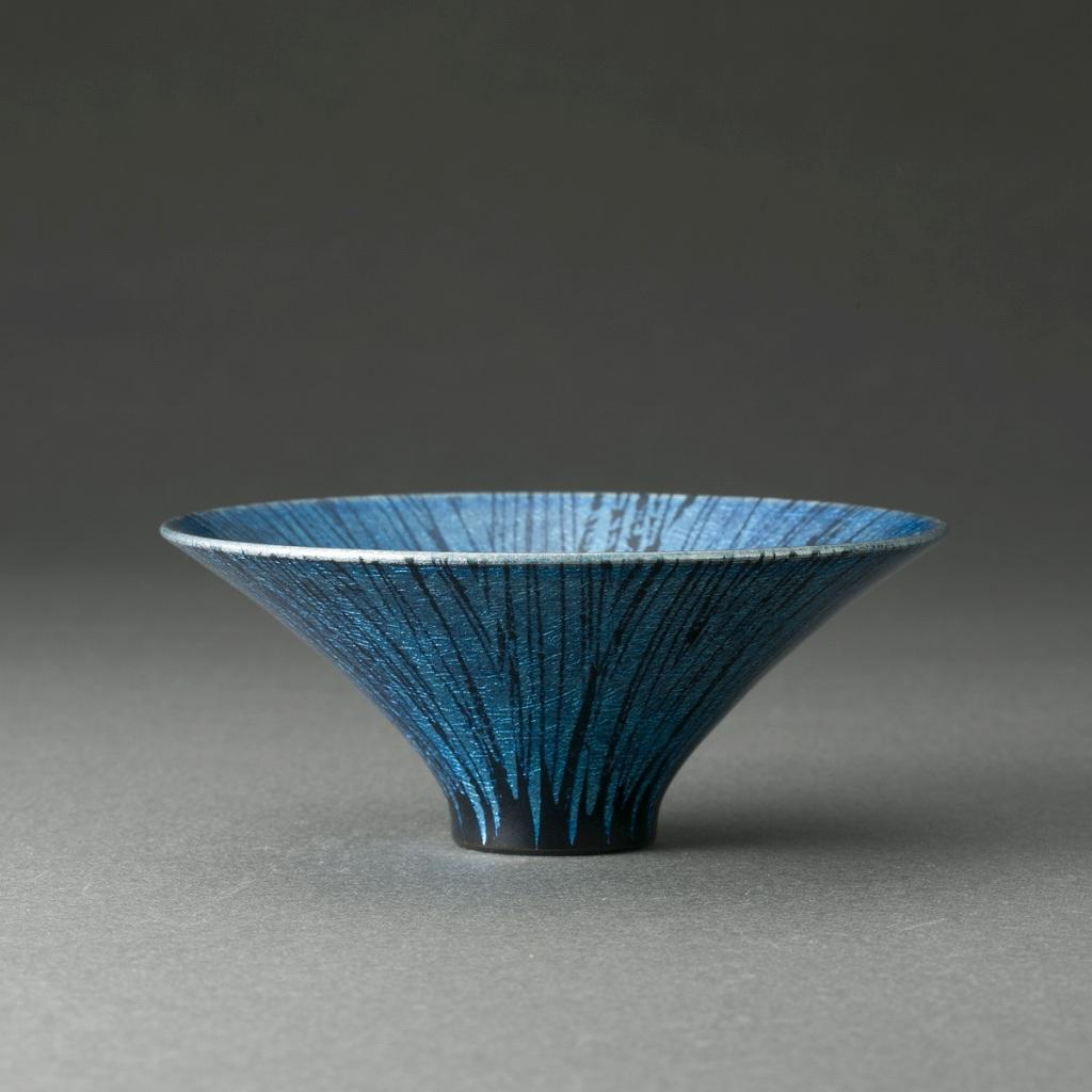 釉裏白金彩盃(古川拓郎)Platinum Glaze Sake Cup(Takuro Furukawa)