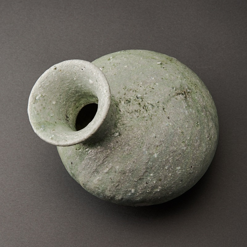 自然釉平瓶(辻村唯)Natural Glaze Flat Bottle(Yui Tsujimura)