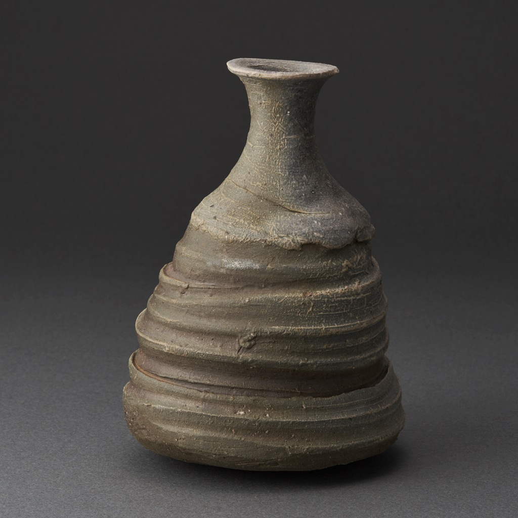 備前徳利(小山厚子)Bizen Sake Bottle(Atsuko Koyama)