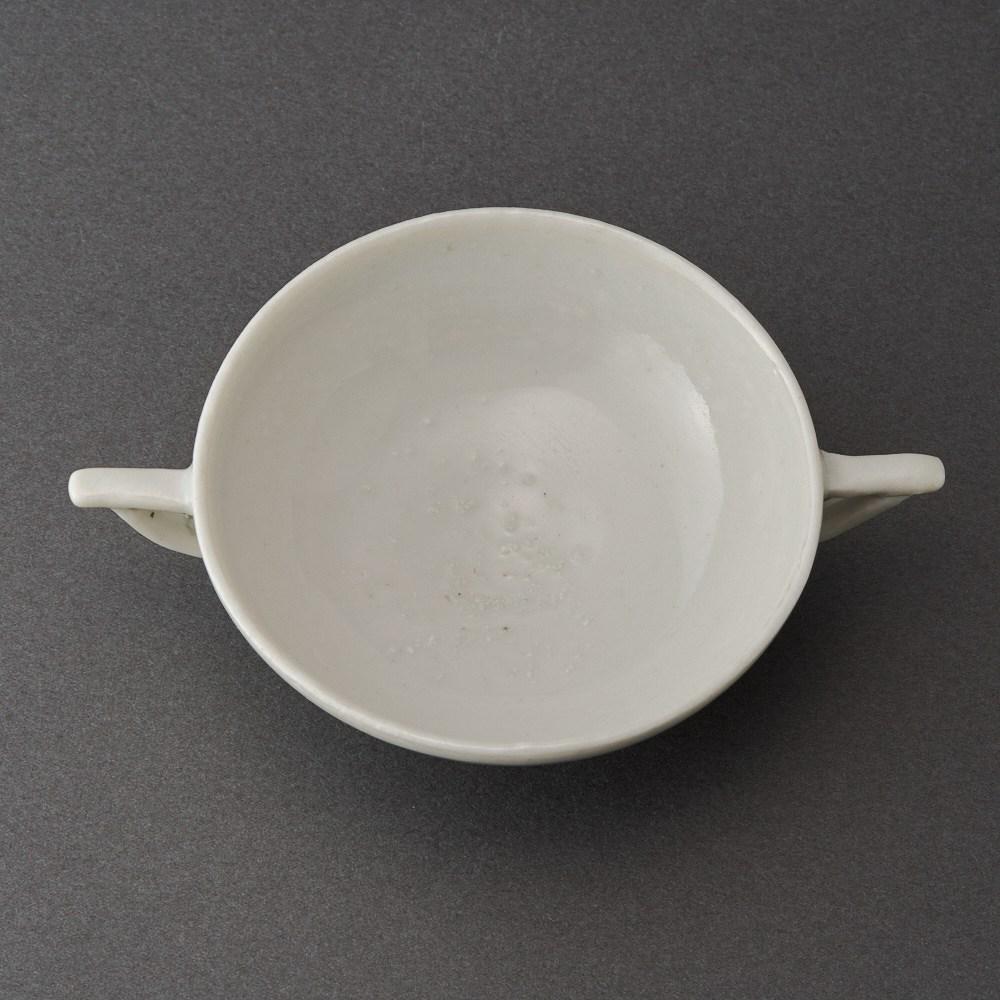 白磁耳盃(古松淳志)White Porcelain Sake Cup(Atsushi Furumatsu)