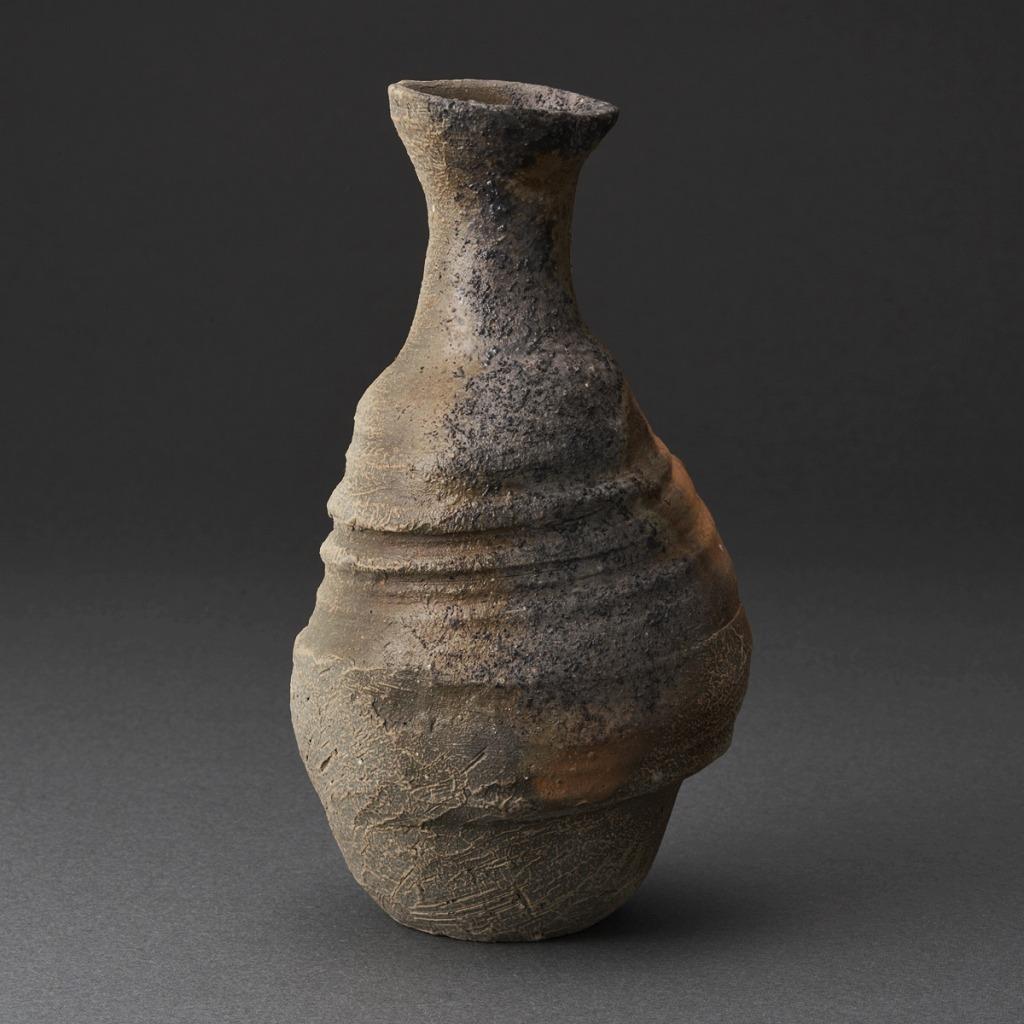 備前窯変徳利(小山厚子)Bizen Sake Bottle(Atsuko Koyama)