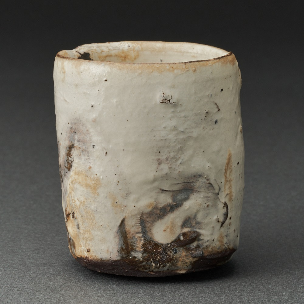 粉吹筒ぐい呑(辻村史朗)Kohiki Sake Cup(Shiro Tsujimura)