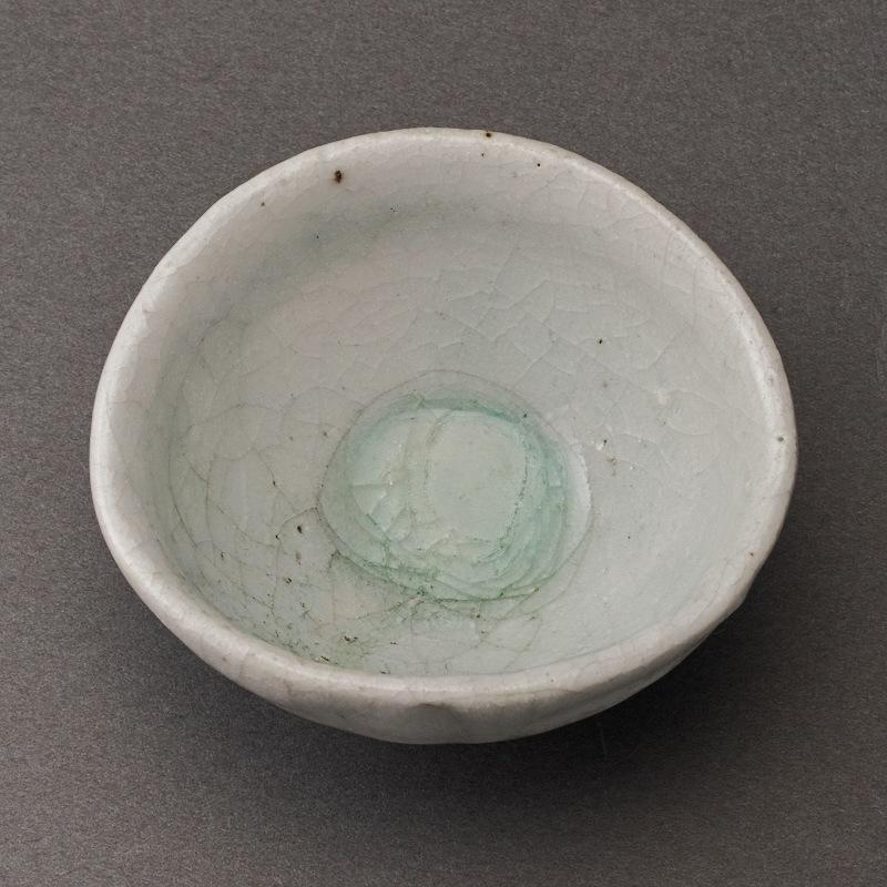 白志野ぐい呑(辻村唯)Shino Sake Cup(Yui Tsujimura)