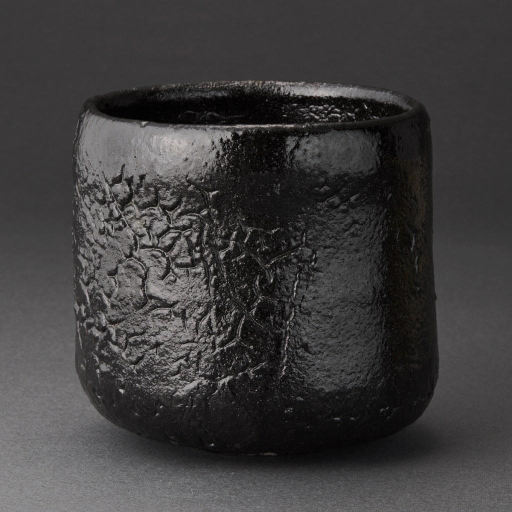 黒唐津茶碗(三藤るい)Karatsu Tea Bowl(Rui Mitou)