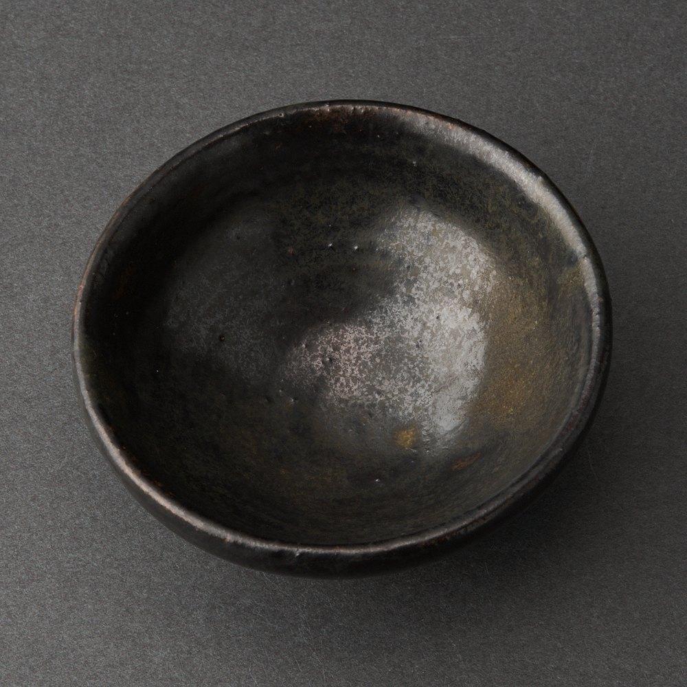 クリーブランド黒釉盃(小山冨士夫)Sake Cup(Fujio Koyama)