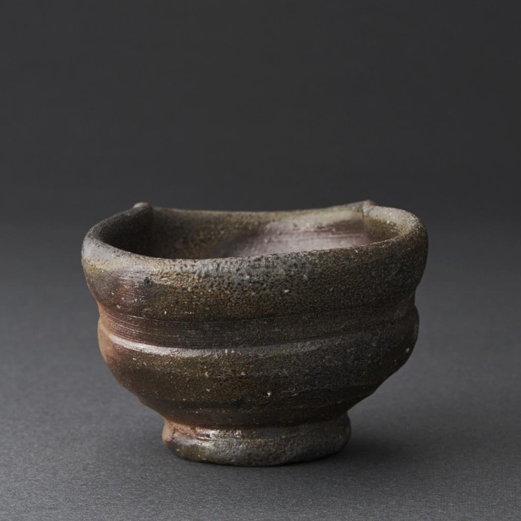 窯変ぐい呑(伊勢崎競)Bizen Sake Cup(Kyo Isezaki)