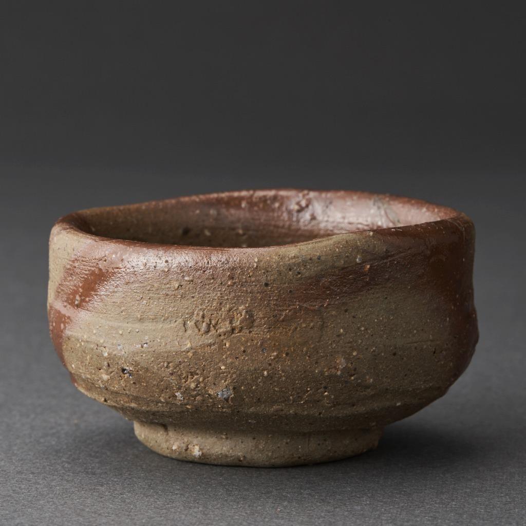 備前緋襷ぐい呑(伊勢崎競)Bizen Sake Cup(Kyo Isezaki)