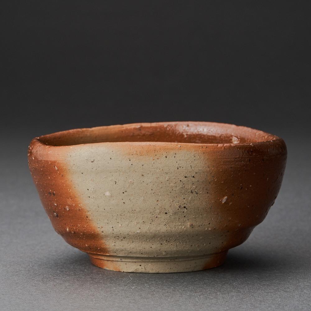 備前緋襷ぐい呑(金重多門)Bizen Sake Cup(Tamon Kaneshige)