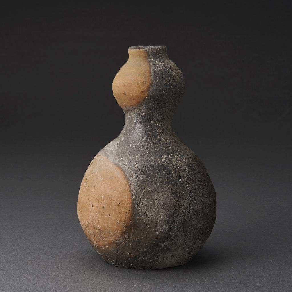備前瓢徳利(金重まこと)Bizen Sake Bottle(Makoto Kaneshige)