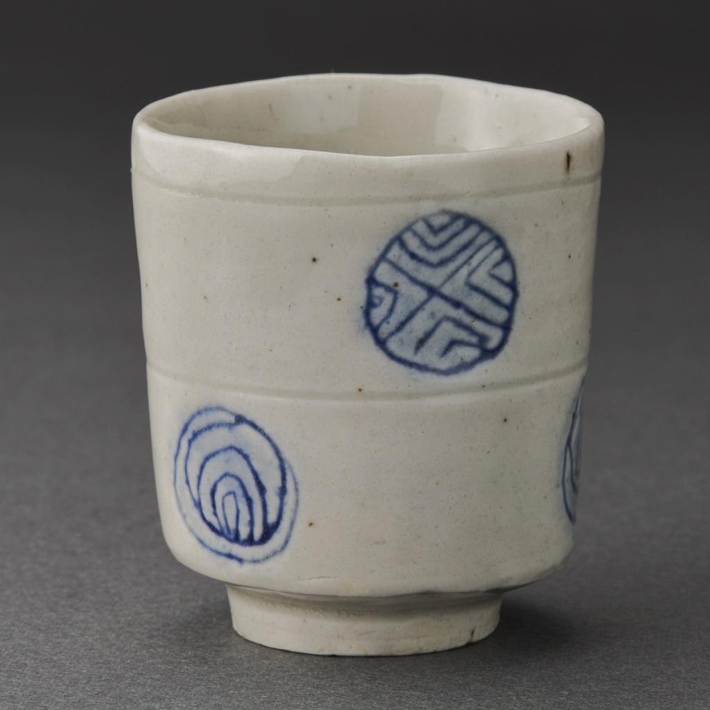 染付筒盃(丸田宗一廊)Blue Painting porcelain Sake Cup(Soichiro Maruta)