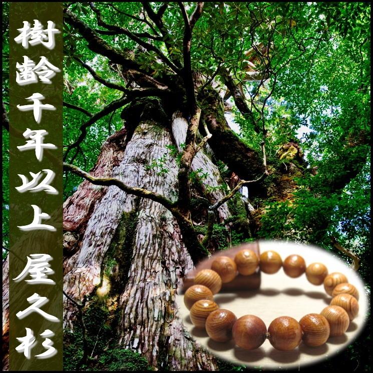◆悠久の鼓動ブレスレット (屋久杉)