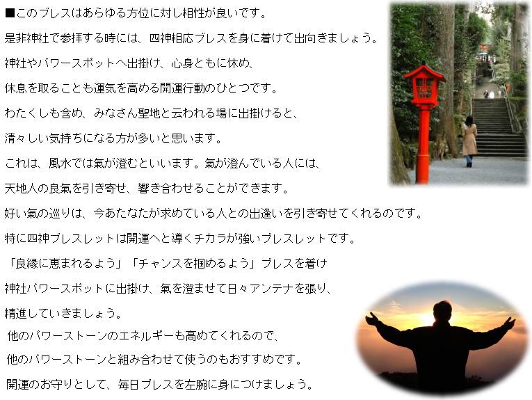 天照石(てんしょうせき) 四神黄龍ブレスレット【黒水晶(モリオン)四神珠使用