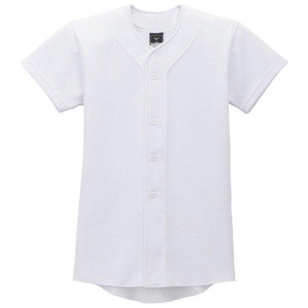 ミズノ MIZUNO GACHIユニフォームシャツ ジュニア 12JC9F80-01 ジュニア 練習用 ユニフォーム 練習用 防汚性 ホワイト 白 12JC9F8001