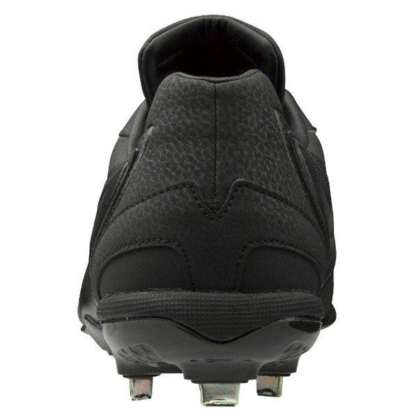 ミズノ MIZUNO GEバリオス QS 11GM1912-00 ユニセックス 金属スパイク 試合用 練習用 甲高 幅広 ブラック×ブラック 黒×黒 11GM191200