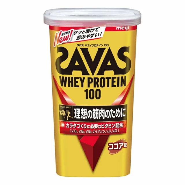 ザバス SAVAS 明治 ホエイプロテイン100 CZ7451 ココア味 294g サッカー フットサル 健康 ボディケア