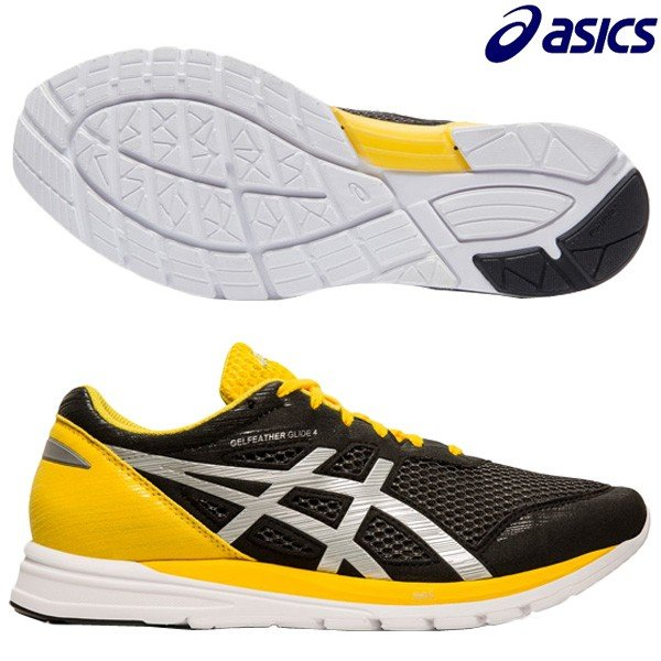 アシックス ASICS ゲルフェザーグライド 4 TJR455-001 メンズ ランニングシューズ ジョギング ラントレ 練習 部活 通学 ブラック