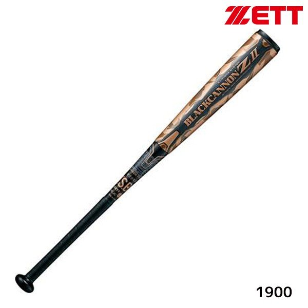 ゼット ZETT ジュニア 軟式 FRP ブラックキャノン Z2 BCT75878-1900 少年軟式用 カーボンバット 78cm 610g平均