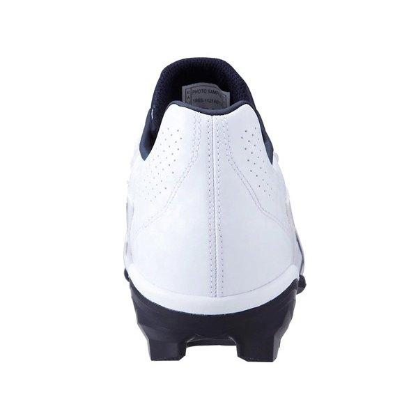 アシックス asics スターシャイン 2 1121A012-100 野球 ポイントスパイク 試合用 ポイントスパイク 練習用 ホワイト×ネイビー 白×紺