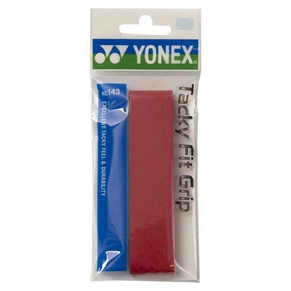 ヨネックス YONEX タッキーフィットグリップ(1本入り) AC143 001 レッド R