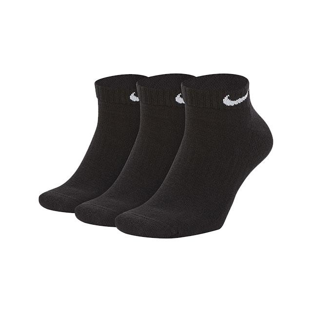 ナイキ NIKE 3P エブリデイ クッション ロー ソックス SX7670 靴下 トレーニング アンクルソックス ブラック 黒 3足組