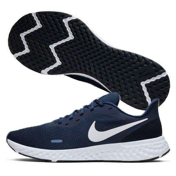 ナイキ NIKE レボリューション 5 BQ3204-400 メンズ ランニングシューズ ジョギング 練習 競技 陸上 部活 運動靴 スニーカー ミッドナイトネイビー