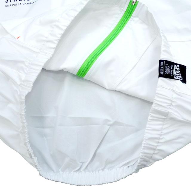 【ジュニア】 スパッツィオ spazio トラックジャケット PA0039_JK ウインドブレーカー ウォーミングアップ 防風 白 ホワイト 子供用