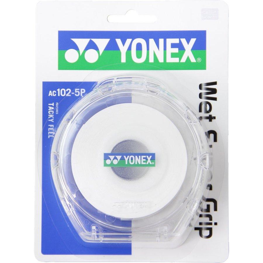ヨネックス YONEX ウェットスーパーグリップ5本パック(5本入) AC1025P 011 ホワイト