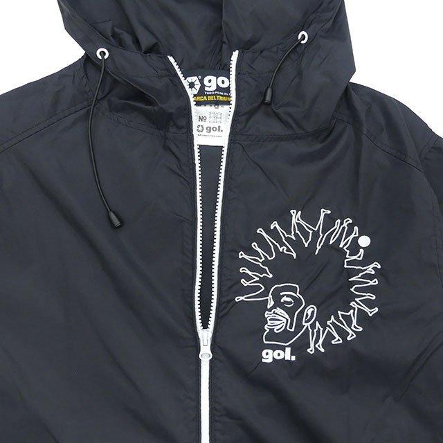 ゴル gol. ナイロン ジップジャケット Dreadlocks G013-078 ウインドブレーカー フルジップ パーカー 防風 メンズ レディース 男女兼用