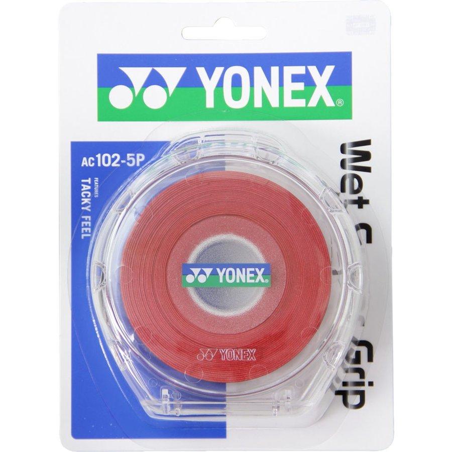 ヨネックス YONEX ウェットスーパーグリップ5本パック(5本入) AC1025P 037 ワインレッド
