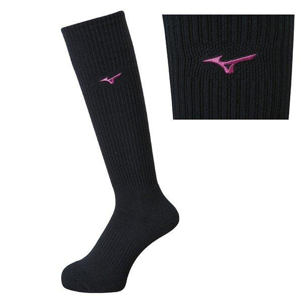 ミズノ mizuno ソックス V2MX8009 バレーボール ロングソックス 23-25cm 定番 ワンポイントロゴ 靴下