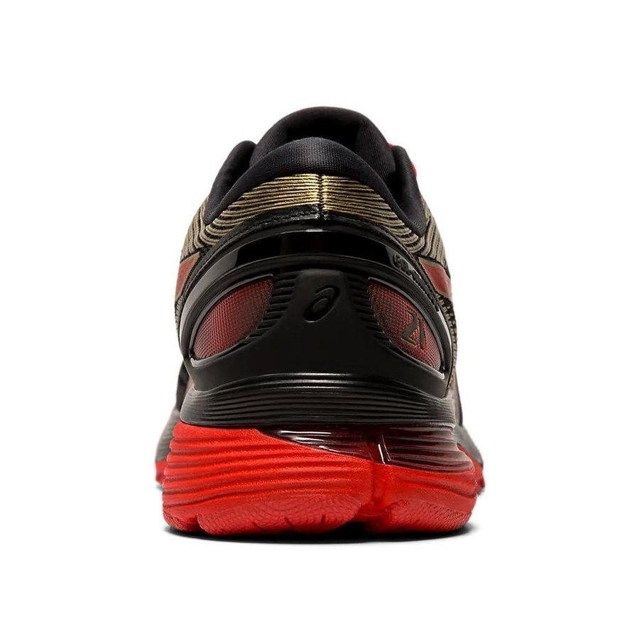 アシックス asics ゲル ニンバス 21 GEL-NIMBUS 21 1012A235-001 レディース ランニングシューズ マラソン ジョギング  ブラック レッド 黒 赤 2019年春夏