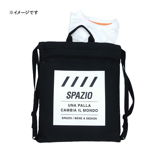スパッツィオ spazio 2way リュック マルチバッグ PA-0038 ジムサック ナップザック 黒 ブラック