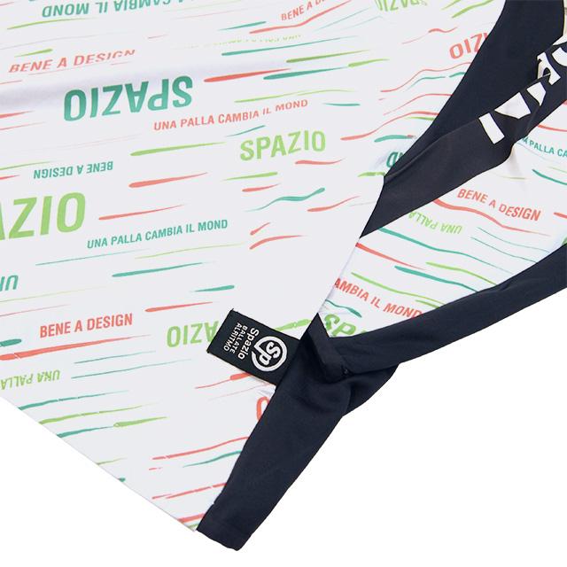 【ジュニア】スパッツィオ SPAZIO 総柄 ハーフZIP パーカー GE0753 トレーニングウェア 練習着 フード ピステ 子供用