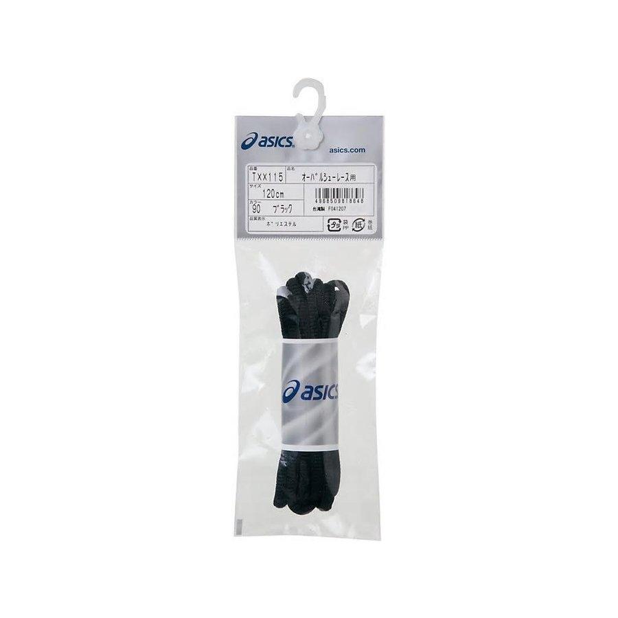 アシックス asics オーバルシューレース TXX115 靴ひも 楕円断面タイプ ポリエステル 白 黒