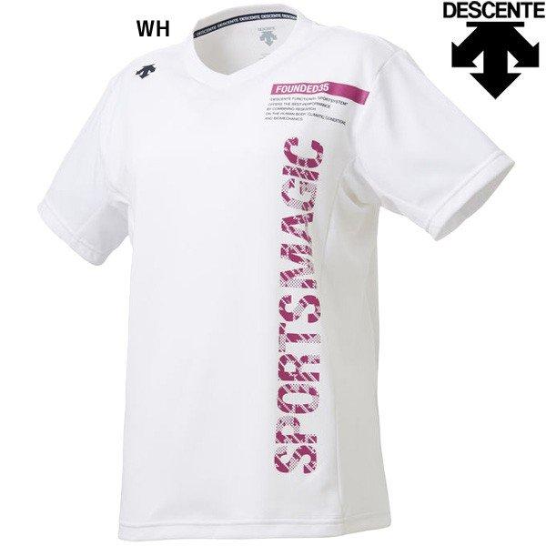 デサント DESCENTE 半袖プラクティスシャツ DVWNJA51 レディース バレーボール 半袖Tシャツ Tシャツ トップス 練習 トレーニングウェア