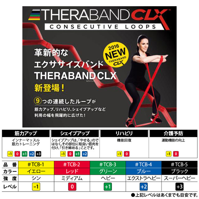 トレーニング用品 エクササイズバンド D&M セラバンド CLX スーパーヘビー TCB5