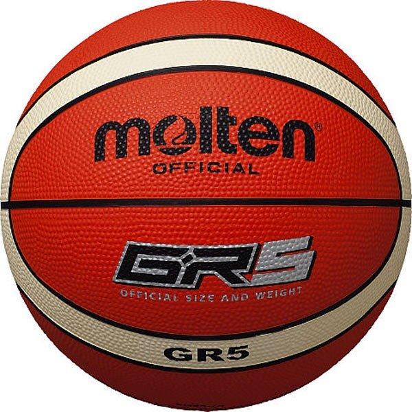 モルテン molten バスケットボール ミニバスケット 5号球 屋外用 ゴムボール BGR5-OI オレンジ×アイボリー