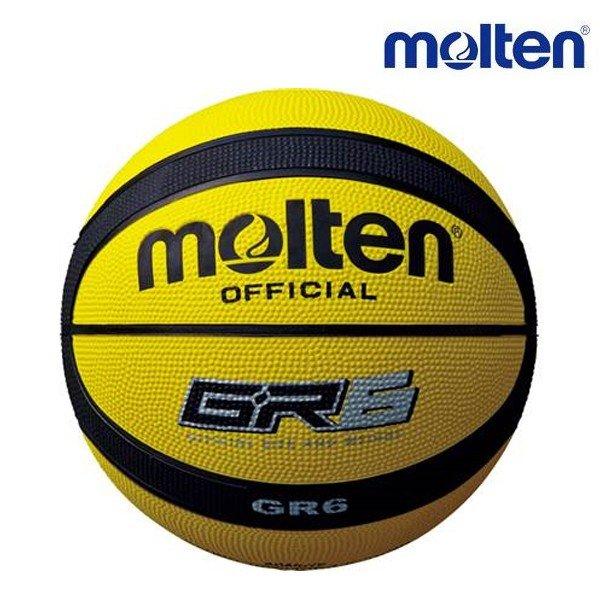 モルテン molten バスケットボール ゴム 6号球 BGR6CP 女子用 黄色 黒 イエロー ブラック