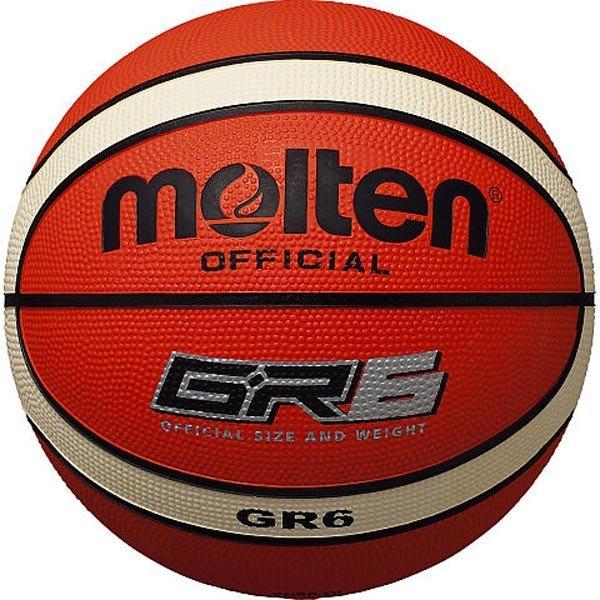 モルテン molten バスケットボール 6号球 屋外用 ゴムボール BGR6-OI オレンジ×アイボリー