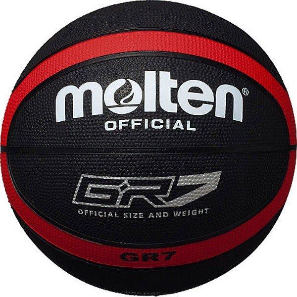 モルテン molten バスケットボール 7号球 屋外用 ゴムボール BGR7-KR ブラック×レッド