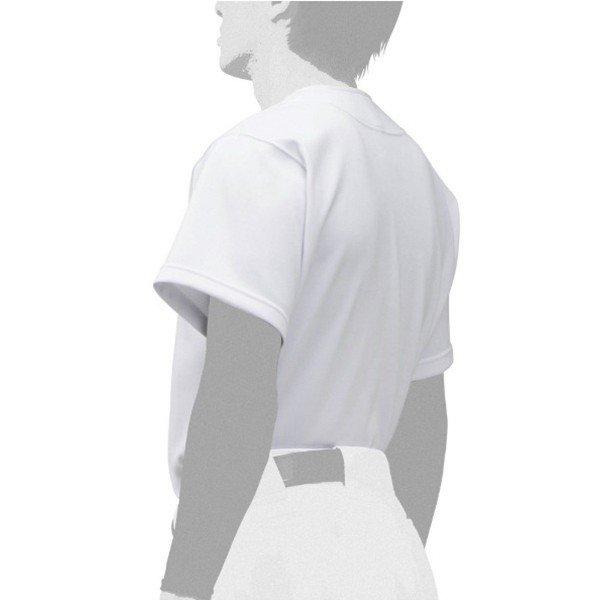 ミズノ MIZUNO GACHIユニフォームシャツ 12JC9F60-01 大人 練習用 ユニフォーム 練習用 防汚性 ホワイト 白 12JC9F6001
