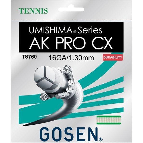 【ラケットと同時購入で張上げ加工サービス】ゴーセン 硬式 テニス ストリングス ガット ウミシマ AKプロCX16 TS760NA