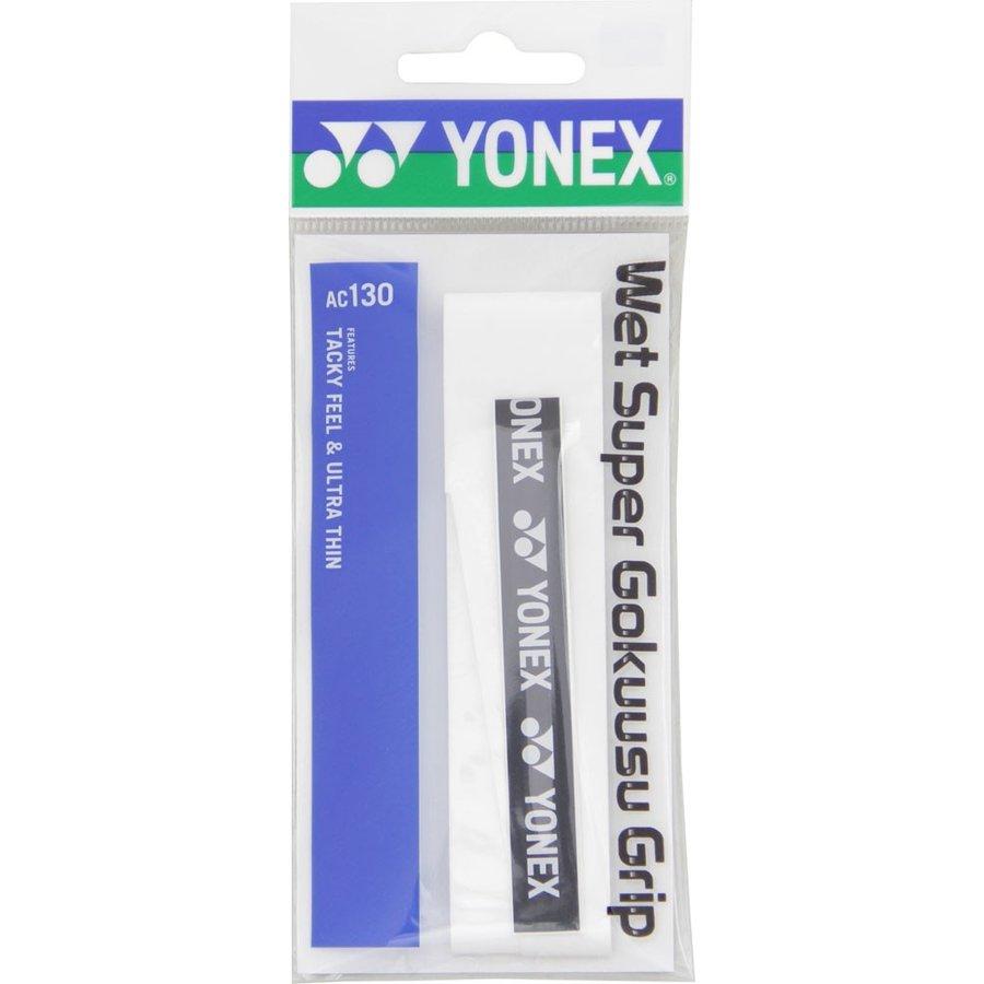 ヨネックス YONEX ウェットスーパー極薄グリップ( 1 本入) AC130 011 ホワイト W