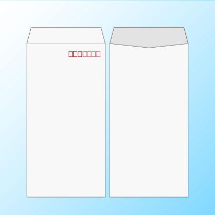 長3透けない(プライバシー保護)ケント80/2色印刷【黒+基本色】/〒枠あり・なし/1000枚