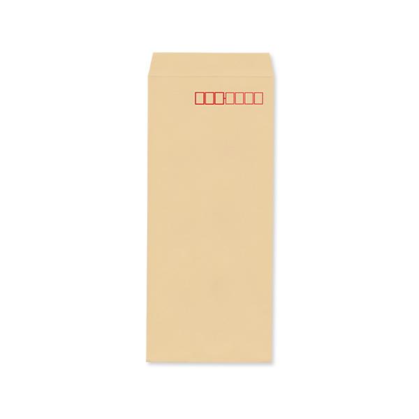 長4クラフト70/黒1色印刷/〒枠あり・なし/1000枚