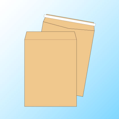 角3【テープ付】クラフト85/黒1色印刷/〒枠なし/3000枚