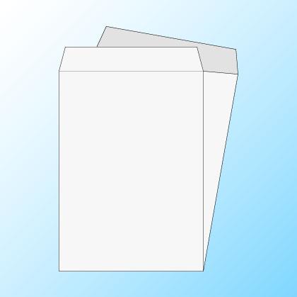 角2透けない(プライバシー保護)ケント100/黒1色印刷/〒枠なし(ヨコ貼りのみ)/500枚
