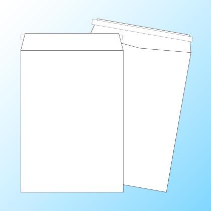 角2【テープ付】パステルホワイト100/基本色1色印刷/〒枠なし(ヨコ貼りのみ)/4000枚